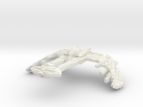 Kahless Class Battleship in White Natural Versatile Plastic