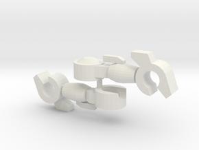 Slender Arms 3.3mm ball socket in White Natural Versatile Plastic