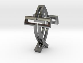 IchthysCross Pendant in Premium Silver