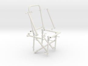 Huey - Single Rear Cabin Seat - Dissembled (Rev 6) in White Natural Versatile Plastic