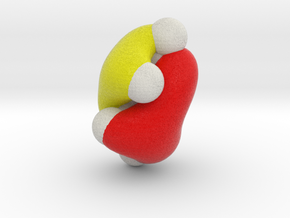 cis-Butadiene, lowest energy pi-MO in Full Color Sandstone