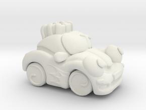 Circus Car in White Natural Versatile Plastic