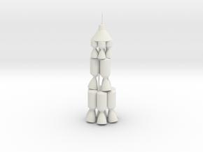JPL NOVA Moon Rocket in White Natural Versatile Plastic