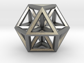 "Small Vector Equilibrium 1"" in Natural Silver"