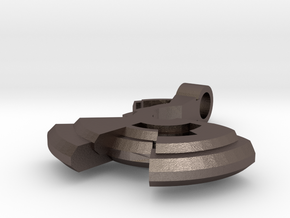 Avar - Little pendant in Polished Bronzed Silver Steel