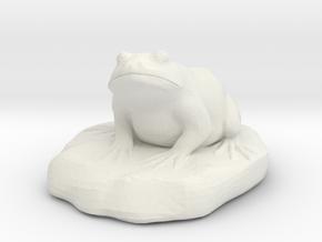 Bull Frog Statue in White Strong & Flexible
