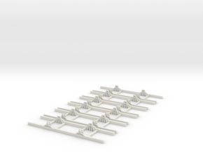 OO9 Underframe 7ft 6 wb x6 in White Natural Versatile Plastic