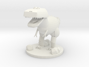 T-rex in White Strong & Flexible