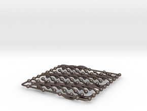 Chain Wave Tile in Polished Bronzed Silver Steel