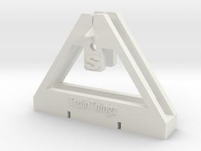 TrackToolz S Gauge Spacing Tool in White Natural Versatile Plastic