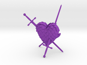 Defeated Heart in Purple Strong & Flexible Polished