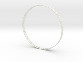 Winners-bangle-XL in White Natural Versatile Plastic