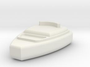 1/10 Scale CB HAM Radio Mic in White Natural Versatile Plastic