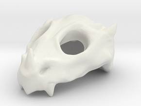 Baby Dragon Skull in White Natural Versatile Plastic