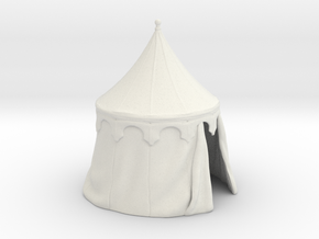 Medieval round tent, updated in White Natural Versatile Plastic