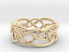 Leaf Celtic Knot Ring in 14K Yellow Gold: 5 / 49