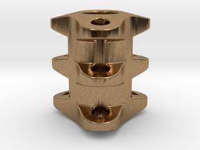 Triple Tritium Bead 2 (2x12mm Vials) in Natural Brass