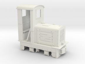Feldbahn Jung EL105 (Spur 1f) 1:32, geschlossener  in White Natural Versatile Plastic