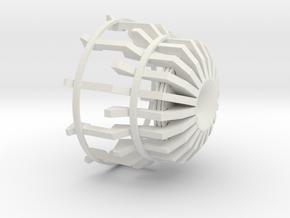 Heatsink in White Natural Versatile Plastic