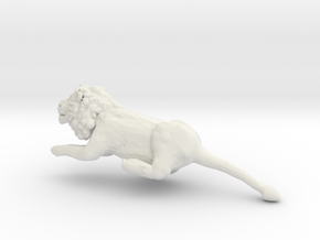 Leo the Lion in White Natural Versatile Plastic