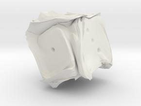 Orc's Dice in White Natural Versatile Plastic