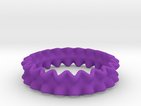 RufflierRing 21mm Step4 in Purple Processed Versatile Plastic