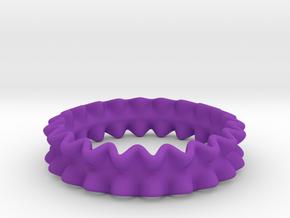 RufflierRing 21mm Step4 in Purple Processed Versatile Plastic