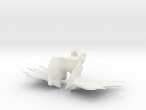 techno bird in White Natural Versatile Plastic