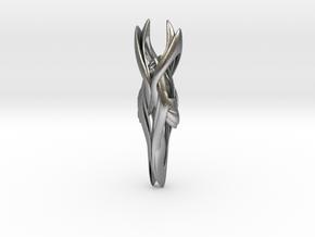 Celadon Pendant in Natural Silver