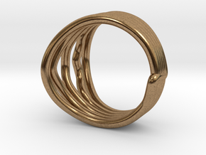 HeliX Love 'n Kisses Ring - 18 mm in Natural Brass