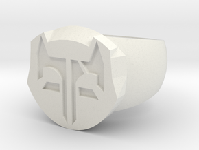 Fox Ring2untitled in White Natural Versatile Plastic