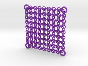 Chain Maille Wall Panel in Purple Processed Versatile Plastic
