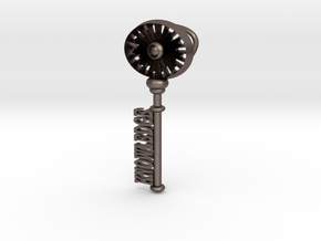 The Key To Knowledge in Polished Bronzed Silver Steel