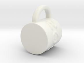 Zoo mug in White Natural Versatile Plastic