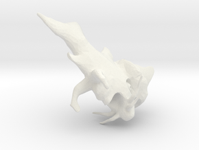 Fish-Dragon with Hat in White Natural Versatile Plastic