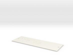 by kelecrea, engraved: the las in White Natural Versatile Plastic