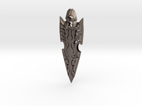 Decorative Arrow Head in Polished Bronzed Silver Steel