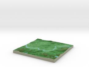 Terrafab generated model Fri Sep 27 2013 11:35:38  in Full Color Sandstone