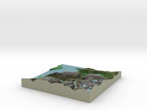 Terrafab generated model Fri Sep 27 2013 11:49:18  in Full Color Sandstone
