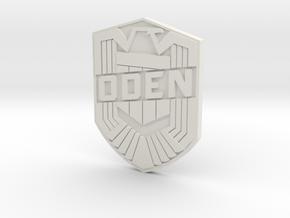 Oden Badge (Custom) in White Natural Versatile Plastic