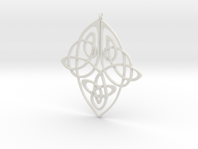 Celtic Pendent 1 in White Natural Versatile Plastic