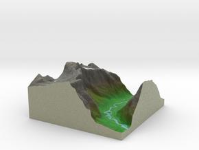 Terrafab generated model Sat Sep 28 2013 19:22:13  in Full Color Sandstone