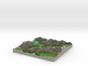Terrafab generated model Fri Sep 27 2013 21:12:39  in Full Color Sandstone