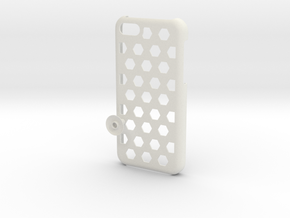 Honey Comb 5C in White Natural Versatile Plastic