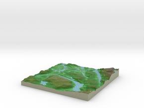 Terrafab generated model Sat Sep 28 2013 23:16:42  in Full Color Sandstone