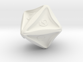 D10 in White Natural Versatile Plastic