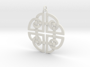Celtic Pendent 2 in White Natural Versatile Plastic