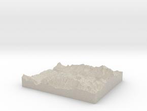 Model of Mountain Village in Sandstone