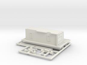 8 m Tonnendachbude 1:160 (n scale) in White Natural Versatile Plastic