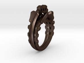 MechaRing Size 11 in Matte Bronze Steel